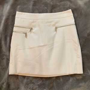 Forever 21 white leather skirt